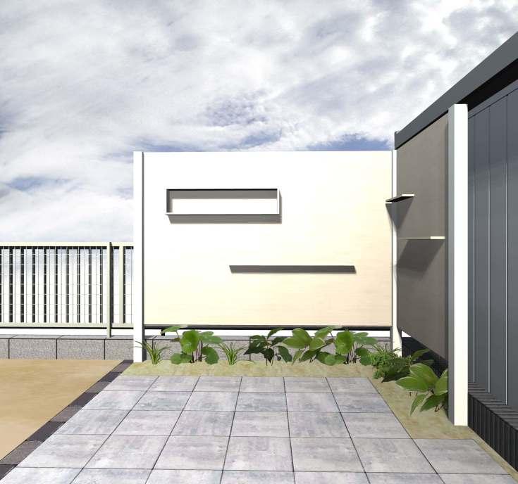 山長造園 住宅パースの紹介