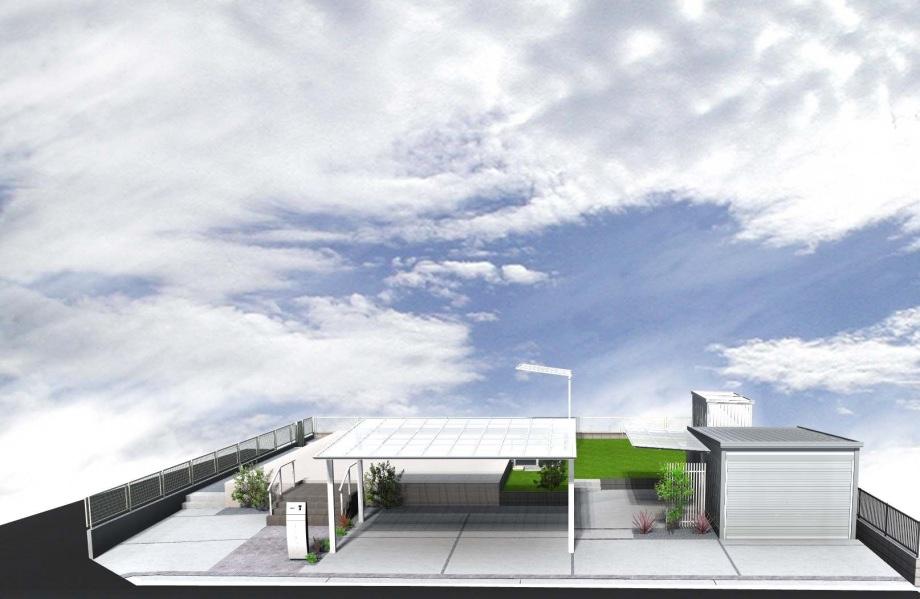 山長造園 個人宅のお庭づくり 住宅パースの紹介